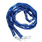 Lock Chain with Blue PVC Sleeve