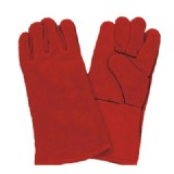 Welder Hand Glove. Red Color