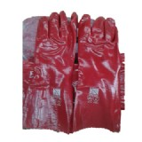 PVC Rubber Hand Glove- SUPER-KING PVC rubber Hand Glove. Red Color